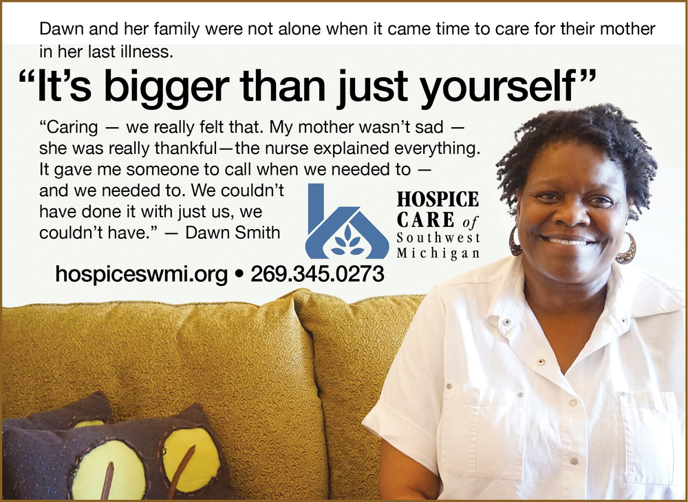 Hospice Care of Southwest Michigan Testimonial Ad