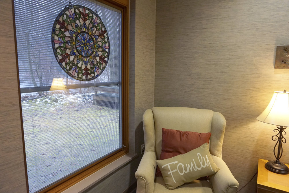 The reflection room at Glenn Arbor