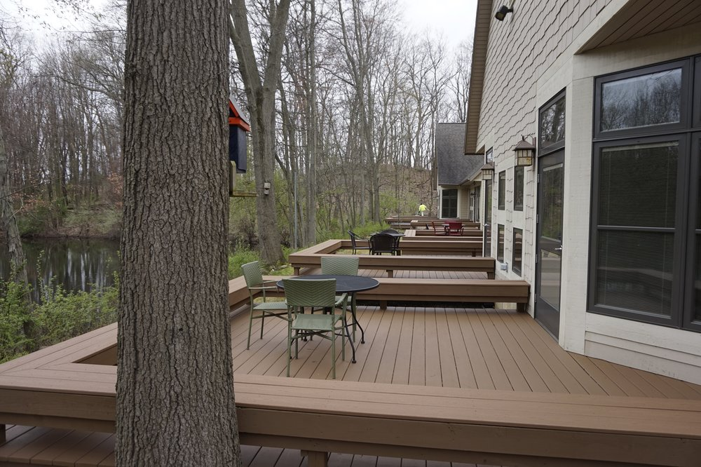 Beautiful outdoor decks at Glenn Arbor