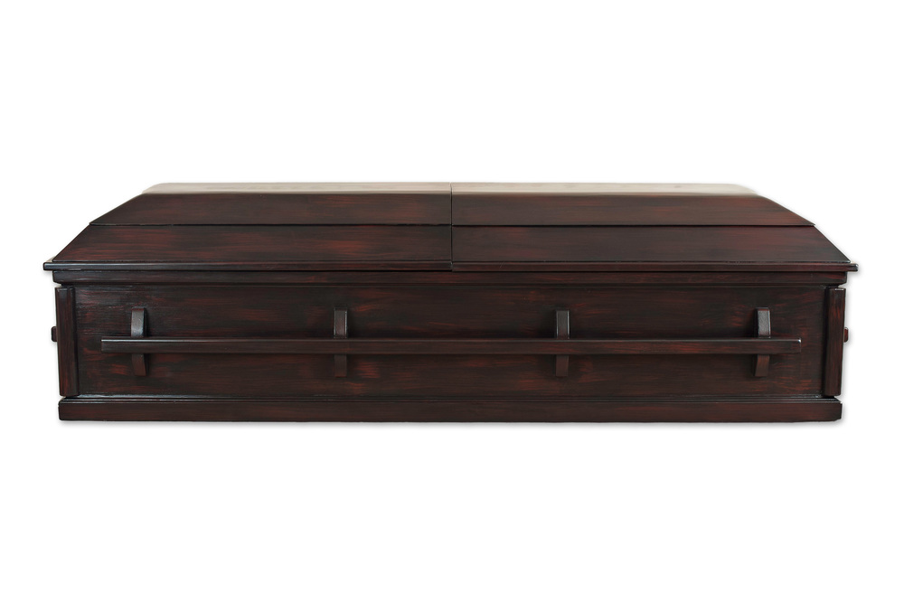 Dark Cherry Hmong Casket Company - Casket coffee table