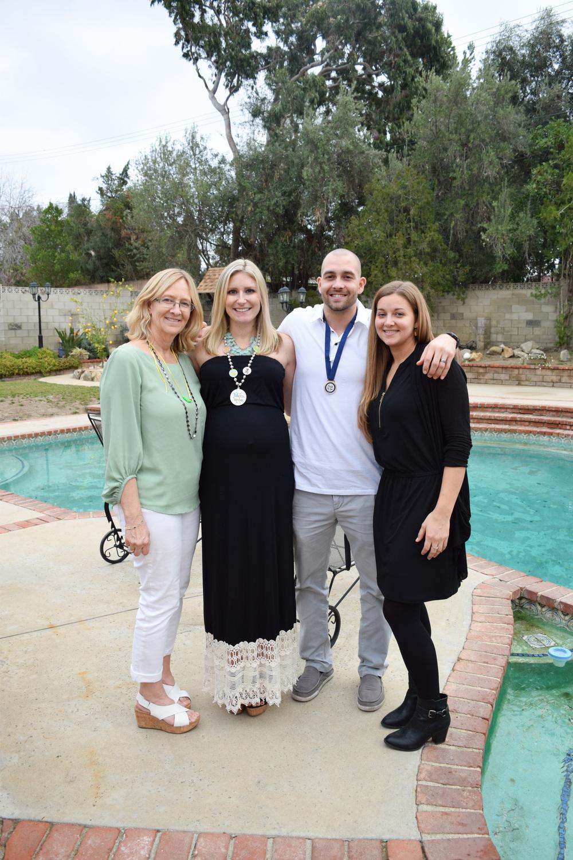 Grandma Linda, Mommy, Daddy, Auntie Kristin