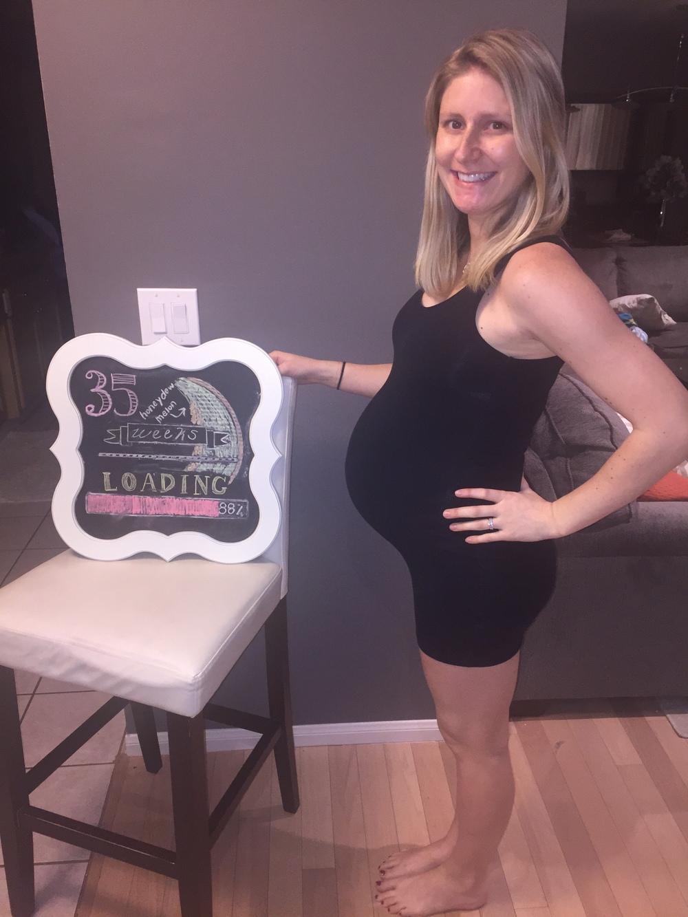 week 35 pregnancy belly pics