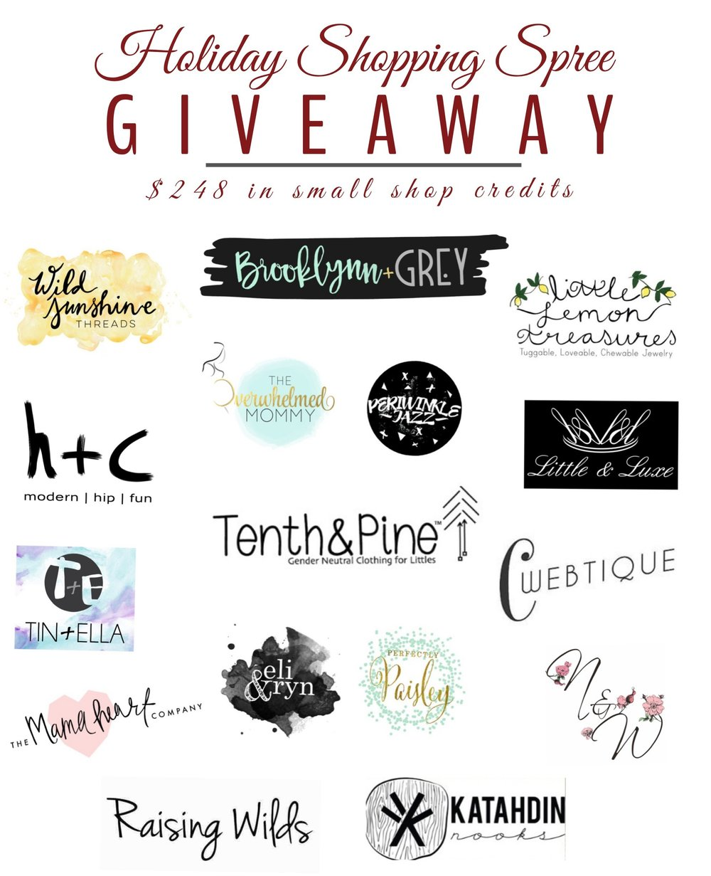Small Shop Holiday Shopping Spree GIVEAWAY
