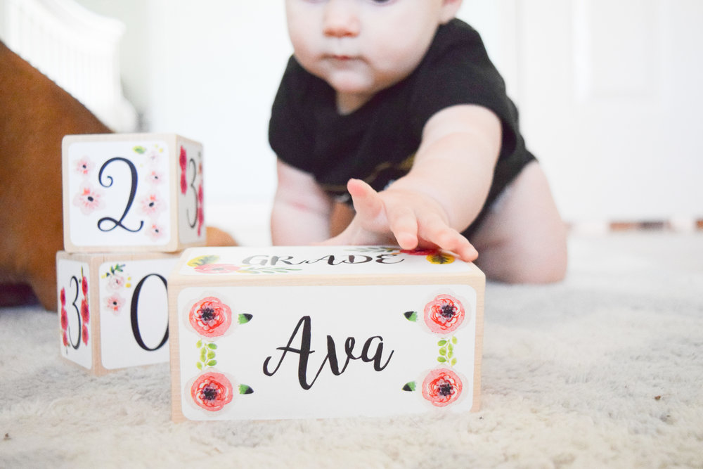 AVA'S 7 MONTH UPDATE | Baby Milestone Blocks GIVEAWAY