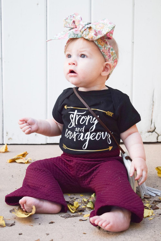 Maroon Baby Bell Bottoms, Black Printed Onesie, Boho Baby Purse