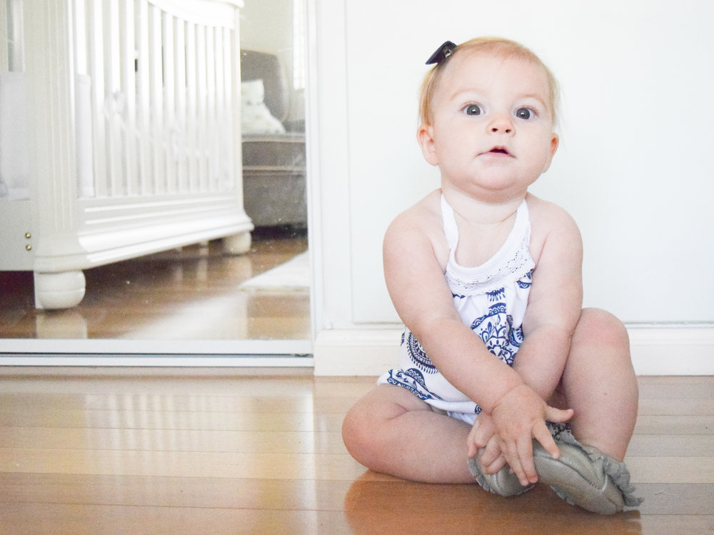 KIDS FASHION | Blue + White Medallion Kids Romper
