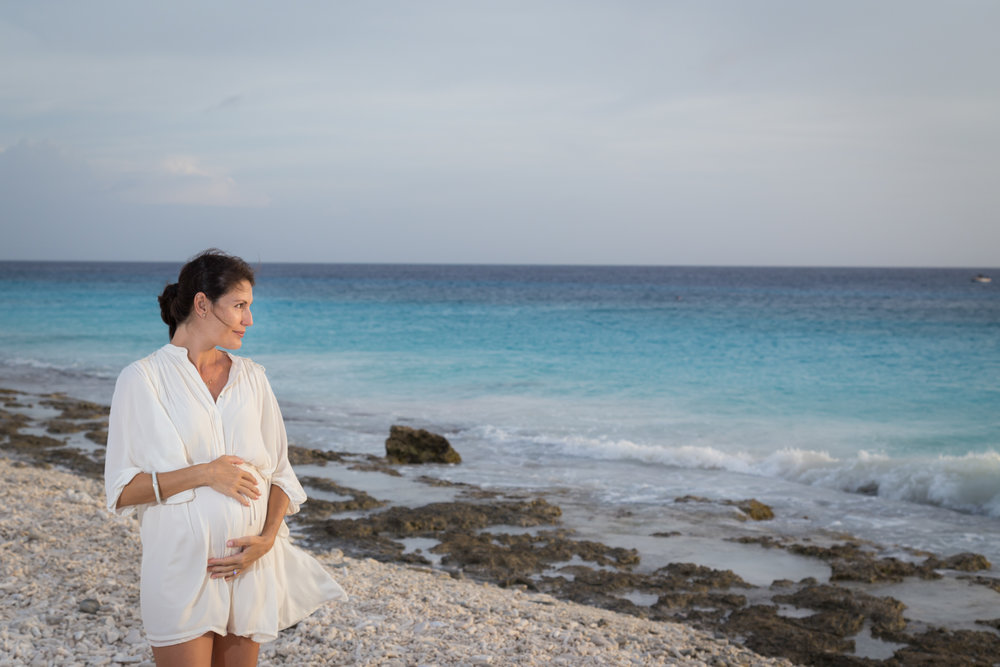 BEACH MATERNITY PHOTOS | Caribbean Sunset Maternity Session