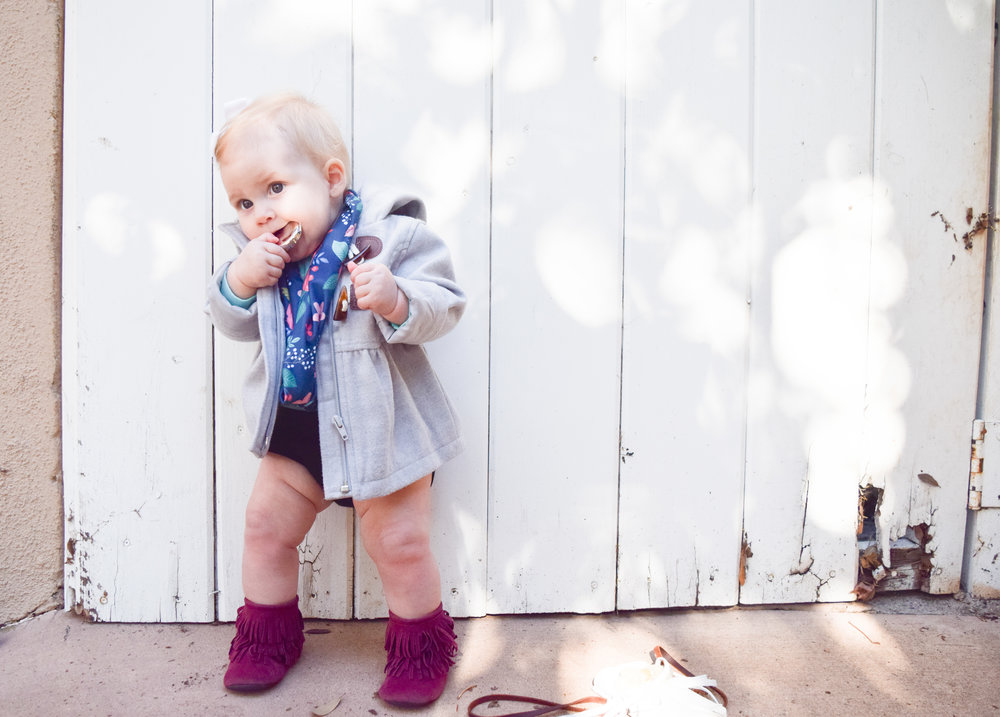 Floral Baby Infinity Scarf - Winter Baby Outfit