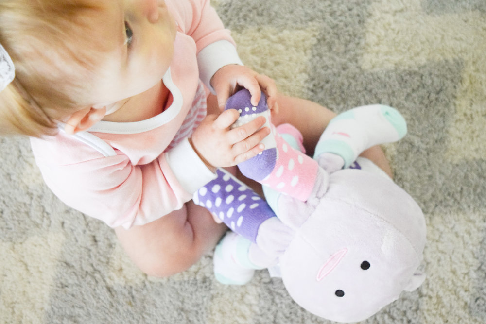 Baby Shower Gift Ideas - Octopus Stuffed Animal - Baby Socks - Baby Aspen
