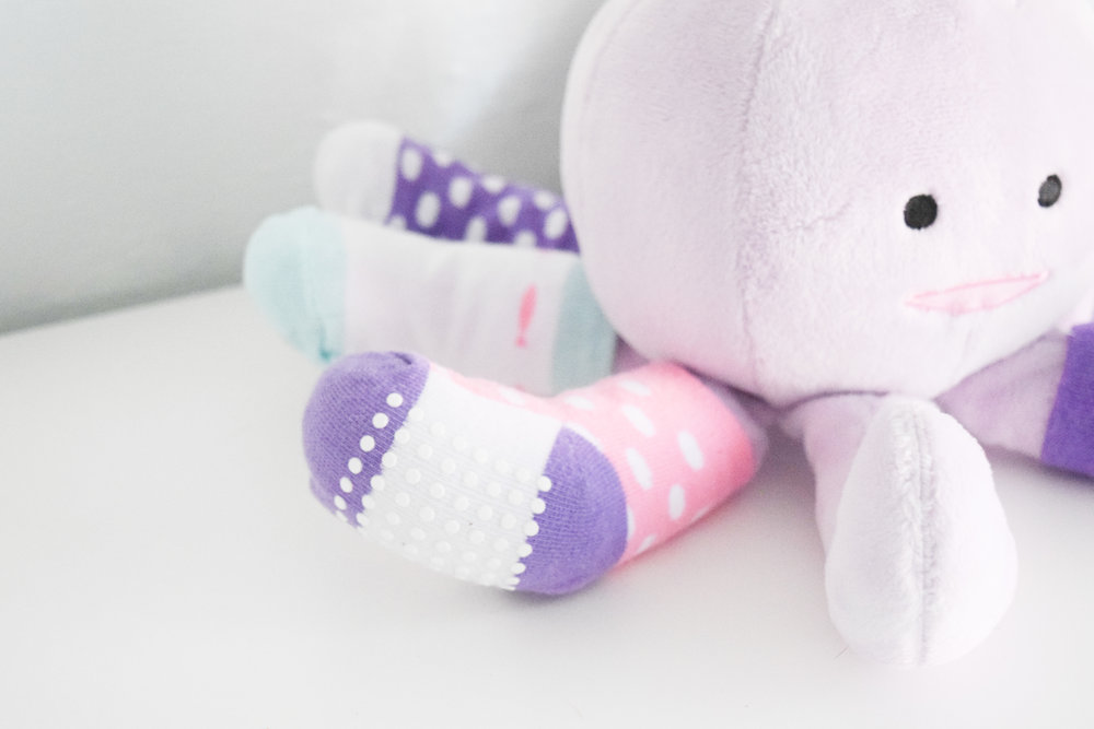 Baby Shower Gift Ideas - Octopus Stuffed Animal - Baby Socks - Baby Aspen