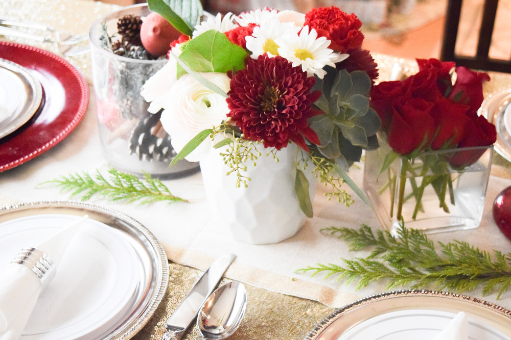 Inexpensive Holiday Place Setting + Decor - FAKE CHRISTMAS | A Hallak Family Holiday Tradition