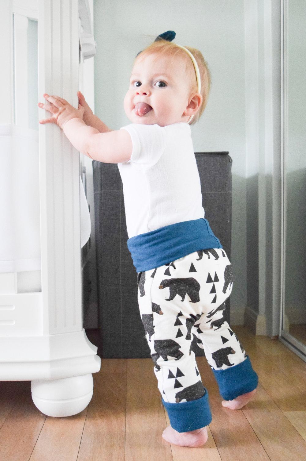 Baby Bear Leggings - Grow With Me Baby Leggings