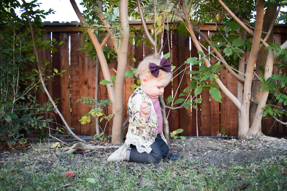 baby floral kimono, maroon baby bow, baby skinny jeans