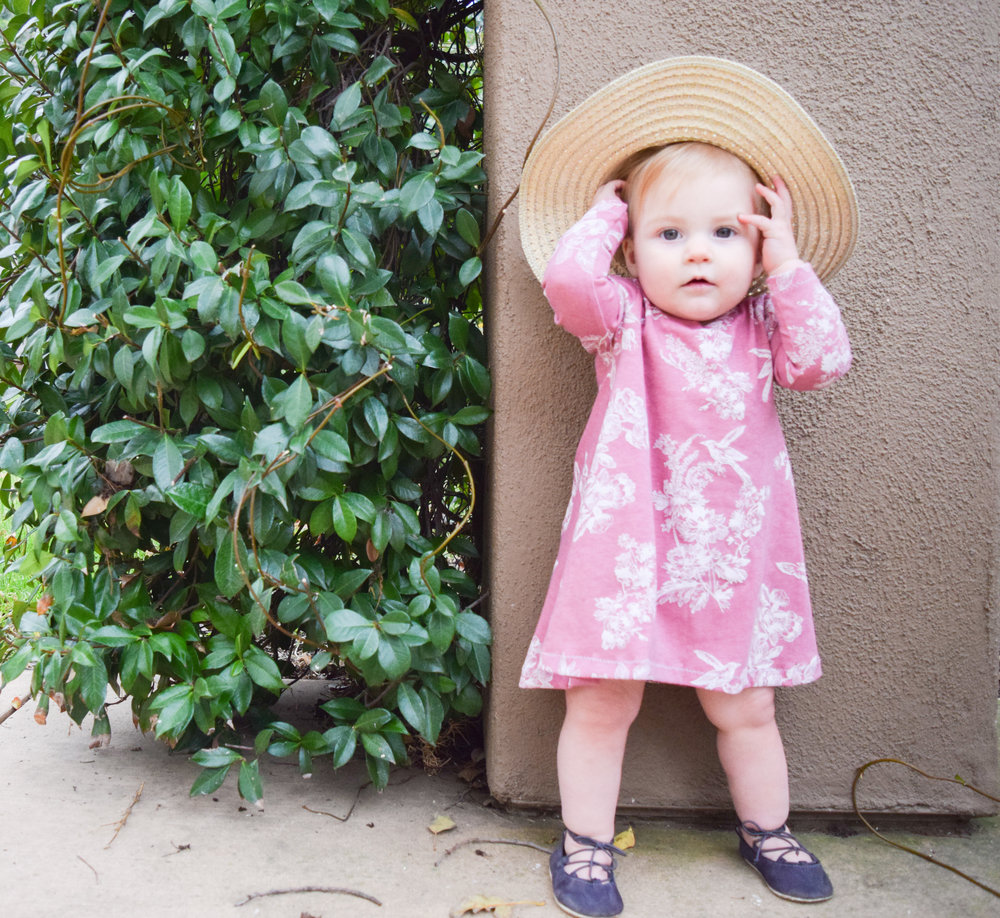 BABY FASHION | A Pink Vintage Floral Baby Tunic Dress
