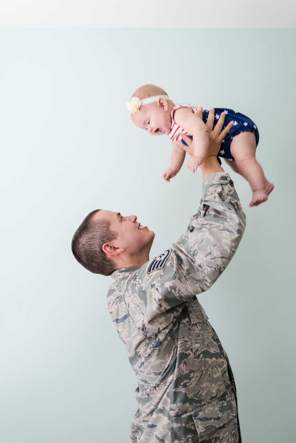 Military Baby Photos - Military Family Photos - Six Month Old Baby Photos