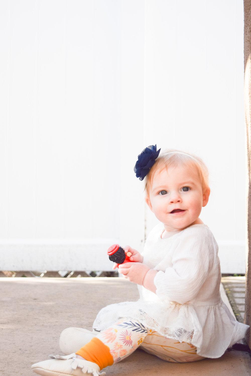 Baby Fashion - Yellow Floral Print Baby Leggings