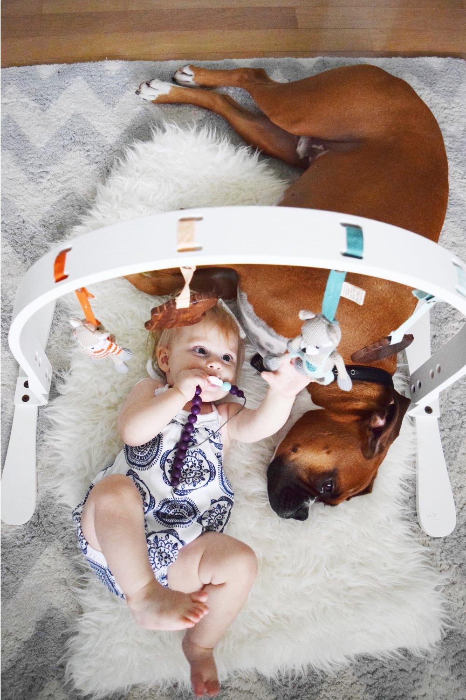 Wooden Organic Baby Play Gym - Finn + Emma
