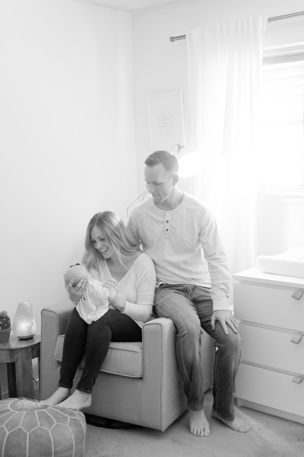 Minimalist Nursery Inspiration + Newborn Baby Girl Photos -- Lauren Alisse Photography