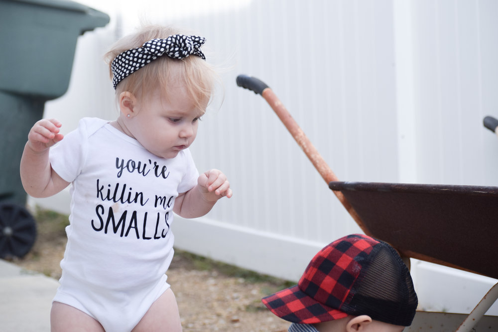 "BABY FASHION | ""You're killin' me smalls"" Baby Onesie - Dressing Bree Etsy Onesies"