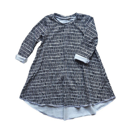Monochrome Long Sleeve Baby Dress