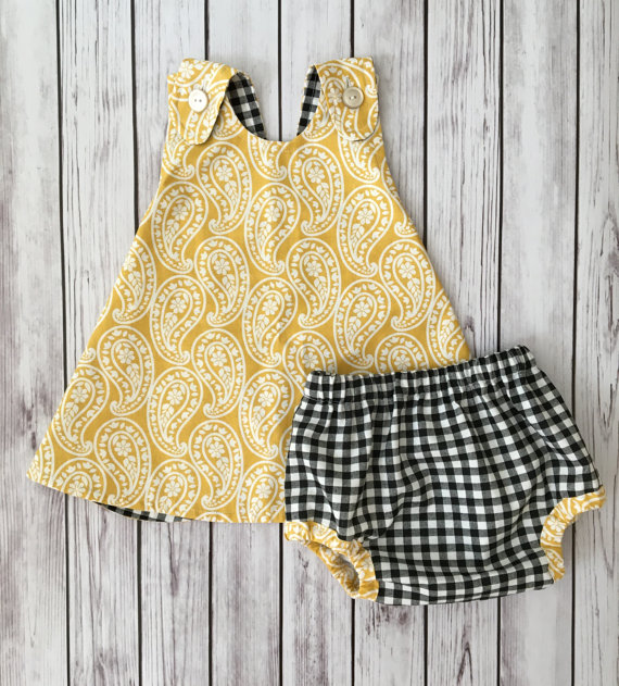 Yellow Spring Baby Dress