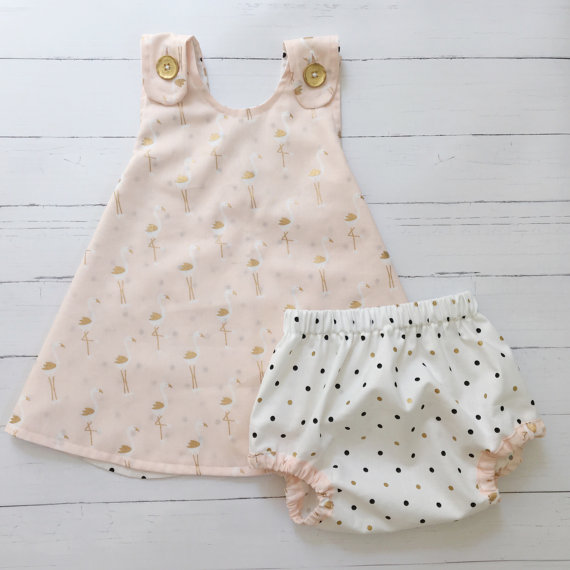 Flamingo Spring Baby Dress