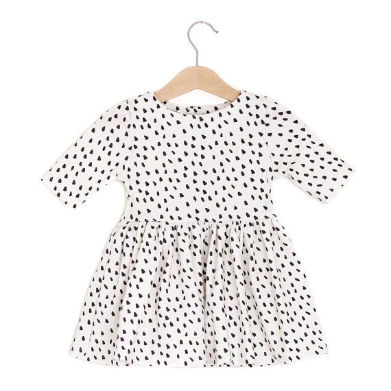 Black and White Polka Dot Spring Baby Dress