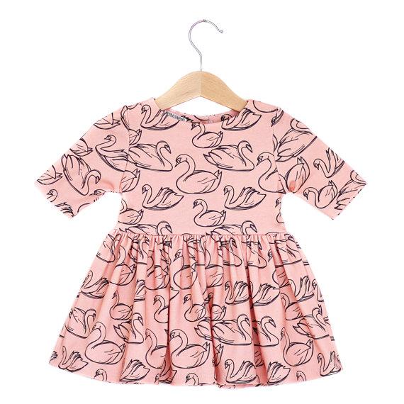 Spring Swan Baby Dress