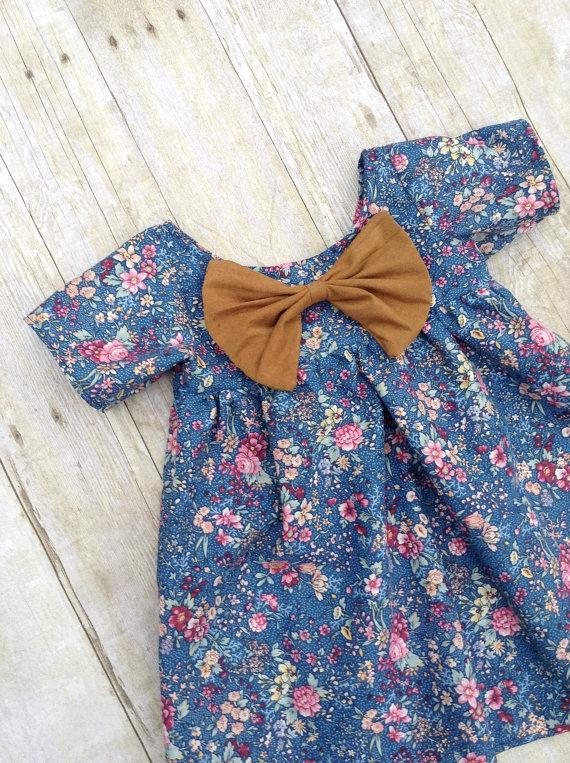 Blue Floral Spring Baby Dress