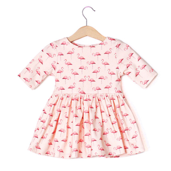 Pink Baby Flamingo Dress