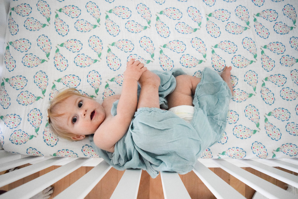 Soft Breathable Spring Crib Sheets + Swaddle Blankets -- Bebe Au Lait