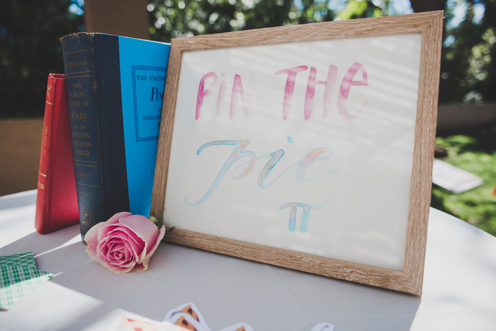 Pin the Tail on the Donkey - A Vintage Chic Pi Day Themed 1st Birthday Party