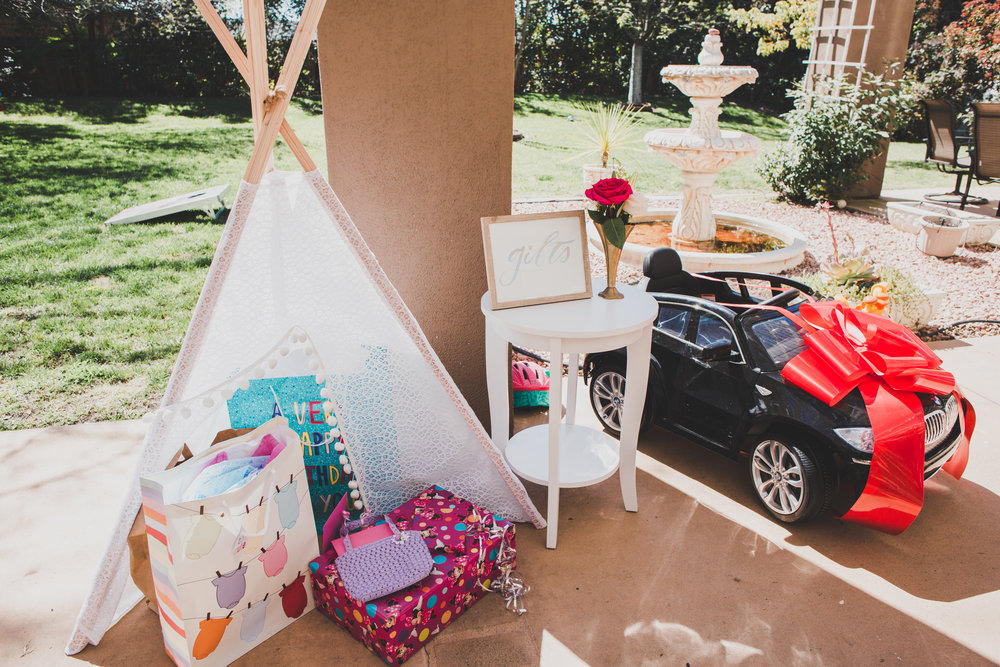 First Birthday Party Ideas - Gift Teepee - A Vintage Chic Pi Day Themed 1st Birthday Party
