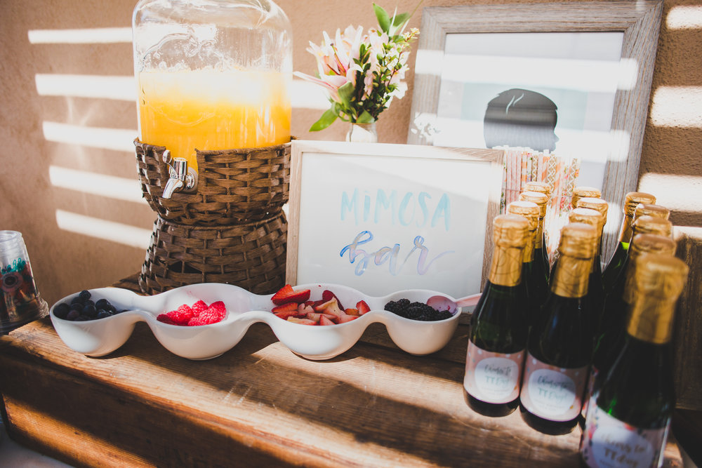 Vintage Mimosa Bar - First Birthday Party Ideas - A Vintage Chic Pi Day Themed 1st Birthday Party