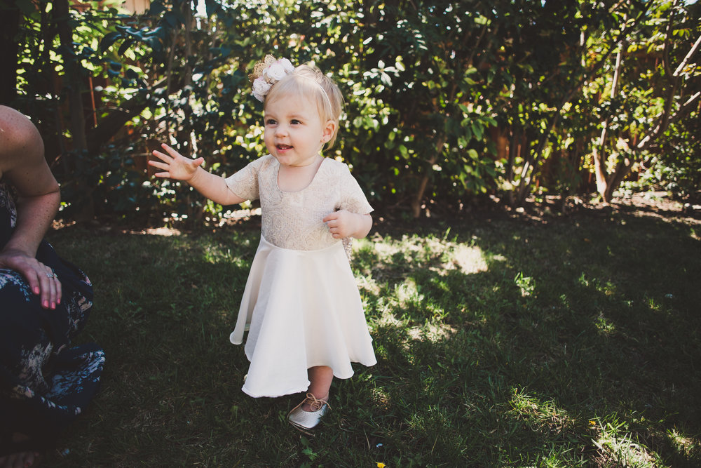 First Birthday Dress - First Birthday Party Ideas - A Vintage Chic Pi Day Themed 1st Birthday Party | Ava's First Birthday