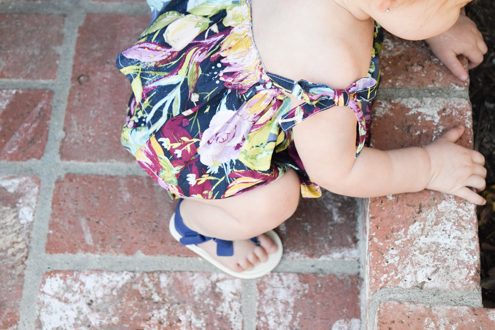BABY FASHION | Spring Floral Kids Romper by Brooklynn & Grey