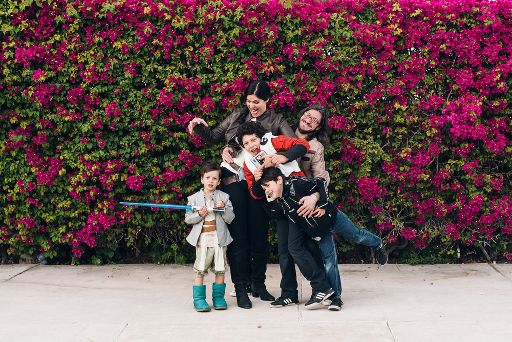 Star Wars Themed Family Photos -- Randy + Ashley Studios -- Palm Springs Family Photographers