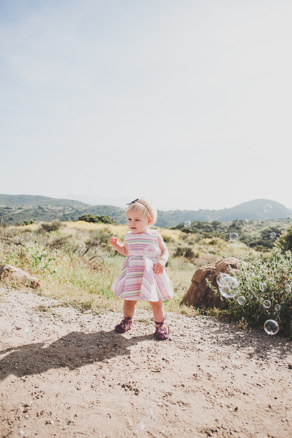 Pink Spring Striped Baby Dress - Kainku Handmade - Briana Lindsey Photography