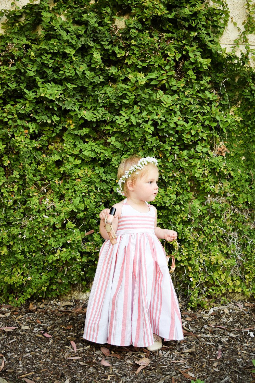 BABY FASHION | A Pink Striped Baby Maxi Dress -- Sweet Little Skye