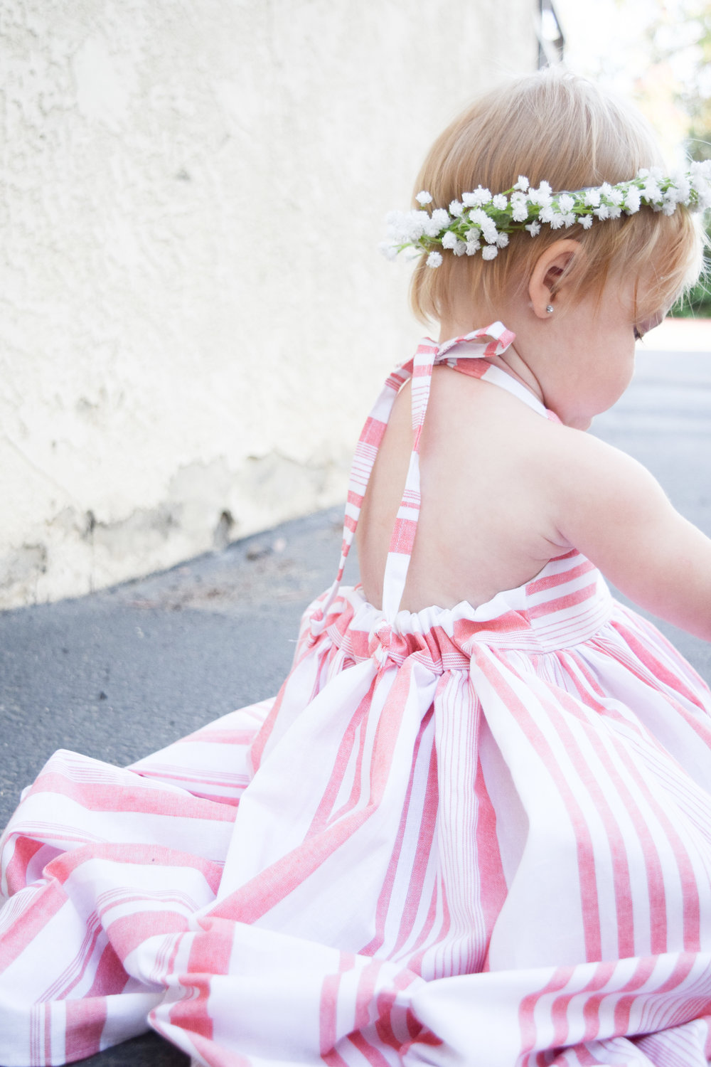 Baby Fashion A Pink Striped Baby Maxi Dress A Babys Breath