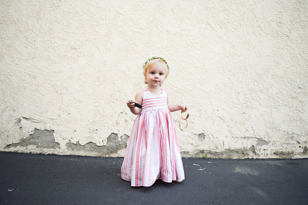 BABY FASHION | A Pink Striped Baby Maxi Dress + Baby's Breath baby Flower Crown -- Sweet Little Skye