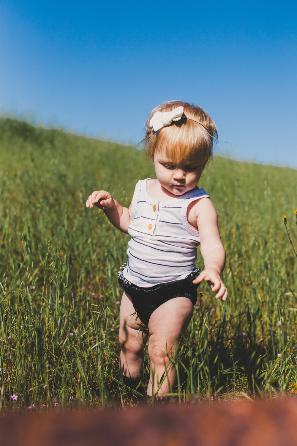 BABY FASHION | A Striped Baby Tank Top + Velvet Bloomers - Tenth & Pine