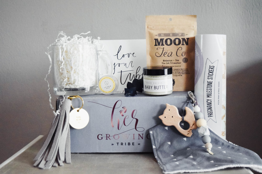 Baby Shower Gift Ideas - Mom To Be Subscription Box - Her Growing Tribe