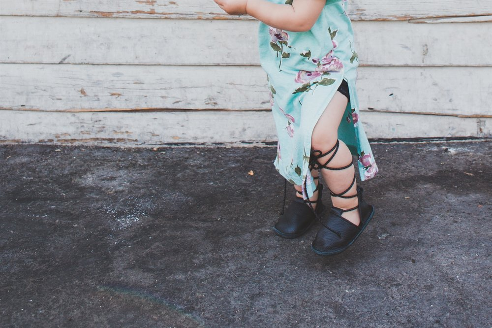 Kids Fashion | Kids Floral Maxi + Lace Up Flats