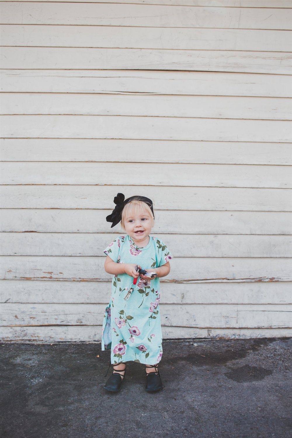 Kids Fashion -- Kids Floral Maxi Dress + Kids Lace Up Flats -- Modesty Handmade