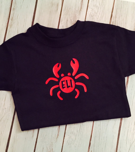 Kids Summer Graphic Tees - Baby Crab Shirt
