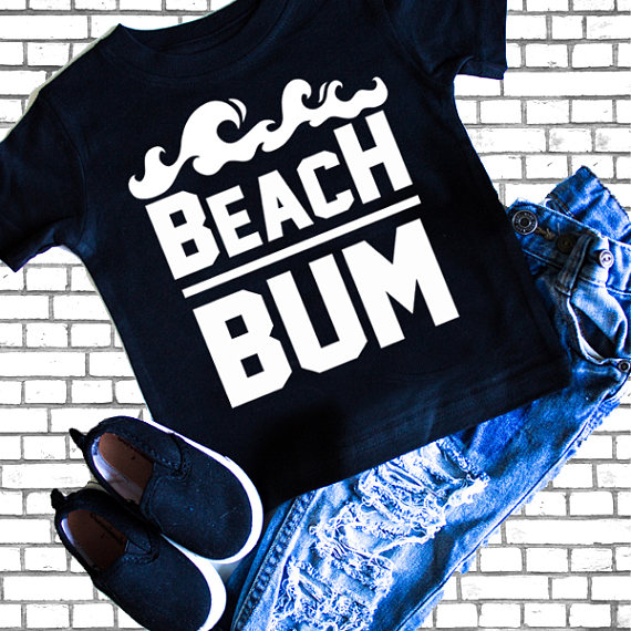 Kids Summer Graphic Tees - Beach Bum