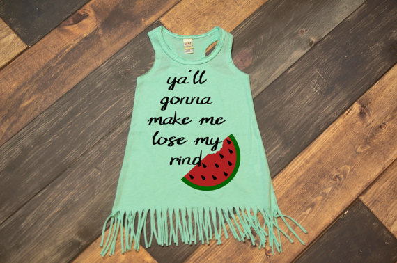 Kids Summer Fringe Tanks