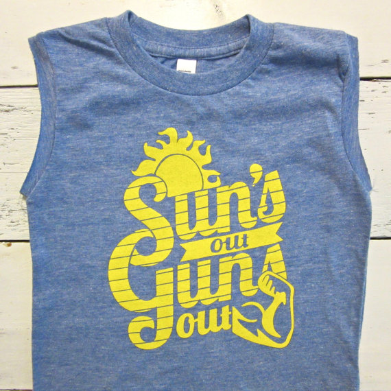 Kids Funny Summer Tank - Suns Out Guns Out