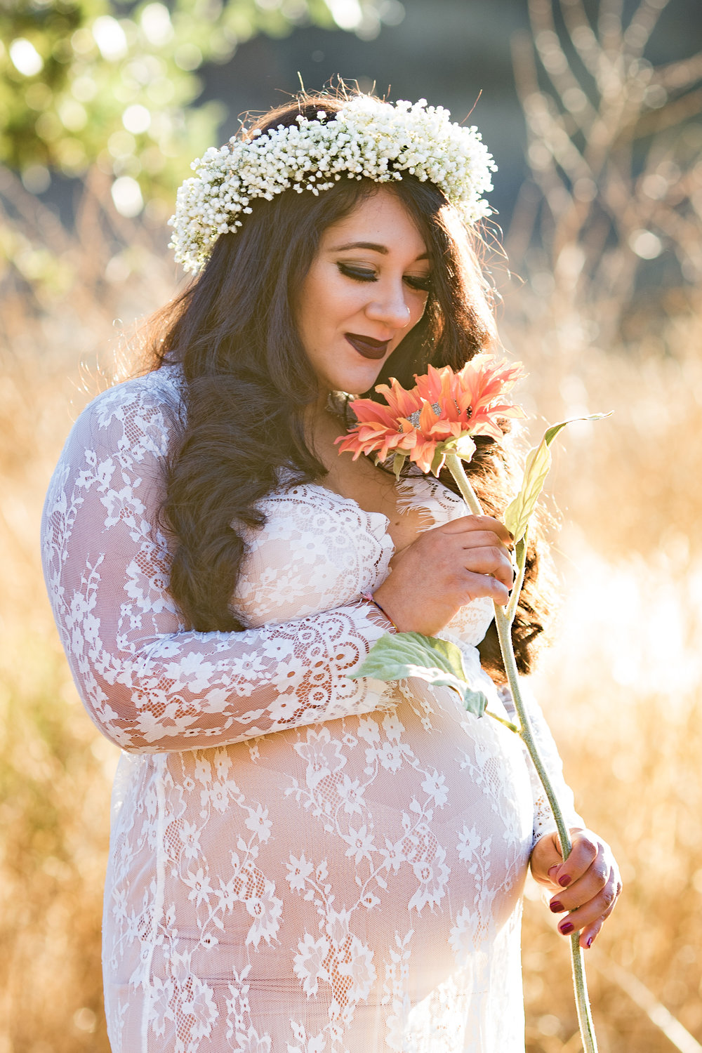 Lace Maxi Maternity Dress - An Outdoor Sunset Maternity Session - Raelyn Elizabeth Photography
